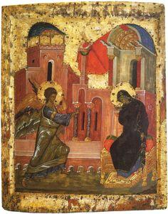 The Annunciation  14th, Byzantium  Tretyakov Gallery, Moscow, Russia