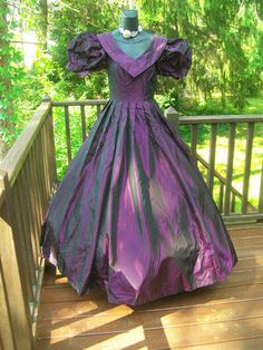 MAGNIFICENT LAURA ASHLEY VINTAGE 80s PROM PARTY DRESS HOLIDAY SUGARPLUM RARE S