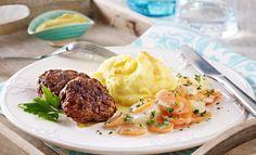 Kohlrabi-Möhren-Gemüse:  400 g Möhren 400 g Kohlrabi 125 ml Gemüsebrühe (z. B. Knorr) 125 ml Milch 3 EL MONDAMIN Saucenbinder zum Andicken von hellen Saucen