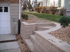 Retaining Wall & Steps - I could see this going in next to our garage/shop to be