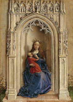 Rogier van der Weyden · Virgen con el Niño entronizada · Museo Thyssen Bornemisza · Madrid (España)