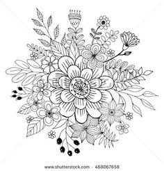 Trendy flowers doodles pattern coloring pages 65 ideas Pattern Coloring Pages, Flower Coloring Pages, Colouring Pages, Printable Coloring Pages, Adult Coloring Pages, Coloring Books, Doodle Drawings, Doodle Art, Flower Doodles