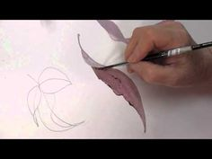 Painting Curved leaves in watercolour tip 17.2