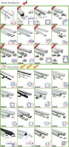 LED Profile for led strip light / LED aluminum strip profile