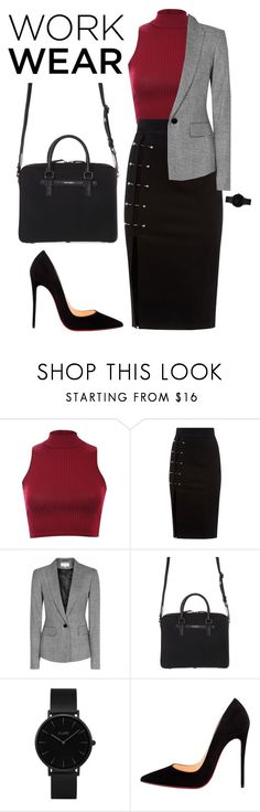 """""""Untitled #295"""" by m15c ❤ liked on Polyvore featuring Pilot, Reiss, Dolce&Gabbana, CLUSE, Christian Louboutin, WorkWear and 60secondstyle"""