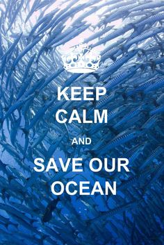 Keep Calm and Save Our Ocean - Quotes Save Our Earth, Save The Planet, Save Our Oceans, Our Planet Earth, Keep Calm Quotes, Marine Biology, Ocean Beach, Summer Beach, Ocean Life