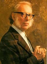 Isaac Asimov (científico y escritor) uno de los principales exponentes del genero literario CIENCIA FICCION