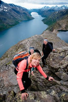 Iconic Norway hike Besseggen ridge Jotunheimen Norway [More about our adventure in comments] #hiking #camping #outdoors #nature #travel #backpacking #adventure #marmot #outdoor #mountains #photography