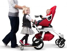 Get a kick out of Orbit Sidekick toddler pram board!!! I CAN'T WAIT TO GET ONE FOR MY FUTURE KIDS!!! :)