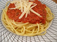 Homemade sauce - let your crock pot do the work. I add fresh tomatoes as well.