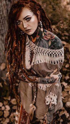 STREET TOYS AUTO Inc. Life Tattoos, Body Art Tattoos, Sleeve Tattoos, Dread Braids, Beautiful Dreadlocks, Human Body Art, Goth Women, Fantasy Girl, Tattoos For Women