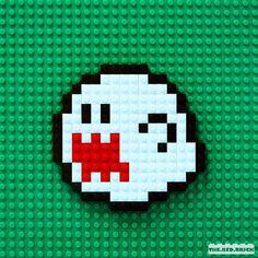 BOO!!! #LEGO #legofun #legophoto #lnstalego #legostagram #brickcentral #brickinsider #toy #toys #toyphotography #nintendo #videogame #videogames #gamer #supermario #supermariobros #retrogaming #boo #pixel #pixelart by the.red.brick