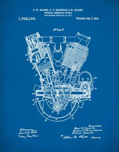 Motorcycle blueprint art print letters and words and images people also love these ideas malvernweather Choice Image