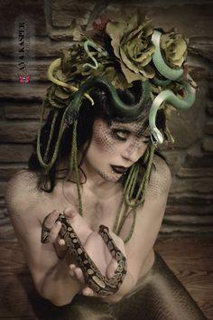 Medusa Headdress Snake flowers dreads One of a kind