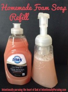Homemade Foam Soap Refill - Updated - Intentionally Pursuing
