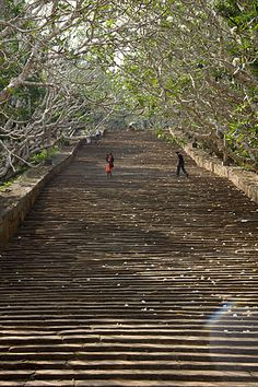 #The old Stairs to Mihintale, Sri Lanka via travel bits.  # We cover the world over 220 countries, 26 languages and 120 currencies Hotel and Flight deals.guarantee the best price multicityworldtravel.com