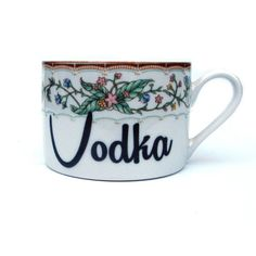 On Vodka Altered Vintage Teacup and Saucer ($20) ❤ liked on Polyvore featuring home, kitchen & dining, drinkware, home & living, silver, floral tea cups, vintage tea cups, vintage saucer and vintage teacups
