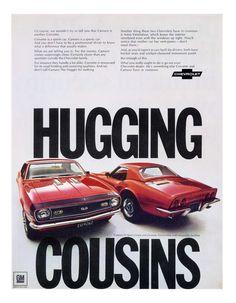 Camaro & Corvette 1968 Hugging Cousins Brochure