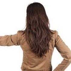 V shaped layered haircut