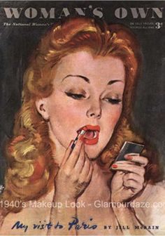 Reminds me of what my Grandma may have looked like back in the day while putting on her lipskip (: