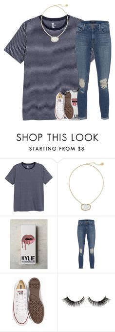 """""""today was strange."""" by ellaswiftie13 on Polyvore featuring Louise et Cie, Kylie Cosmetics, J Brand and Converse"""