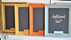 Homeroad-Easy Framed Chalkboards with a Tip