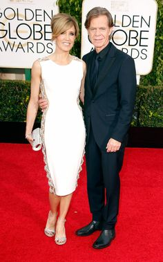 The 2015 Golden Globe Awards: Felicity Huffman & William H Macy Golden Globe Award, Golden Globes, William H Macy, Celebrity Photos, Celebrity Style, Felicity Huffman, Tailored Fashion, Vogue, Hot Couples