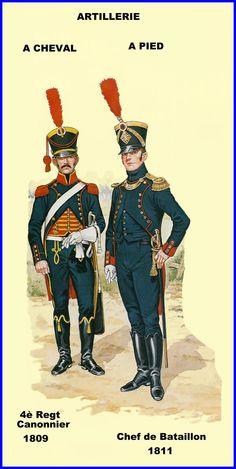 French; Gunner 4th Horse Artillery Regt 1809 & Chef de Battalion Foot Artillery 1811