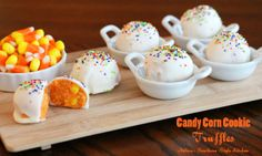 Today on Parade - Candy Corn Cookie Truffles
