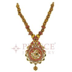 Indian Jewellery and Clothing: Divine temple jewellery collection studded with rubies from Prince jewellers