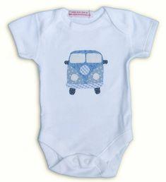 Boy's Campervan Motif Baby Grow