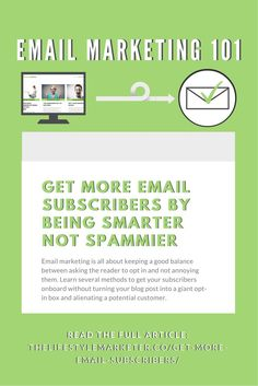The truth is email marketing is all about keeping a good balance between asking the reader to opt in and not annoying them. Learn several methods to get your subscribers onboard without turning your blog post into a giant opt-in box and alienating a potential customer. Full article from The Lifestyle Marketer here: https://thelifestylemarketer.co/get-more-email-subscribers/