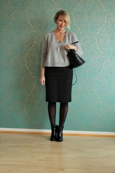 A fashion blog for women ove 40 and mature women Sweater: Dorothee Schumacher Skirt: Dolce Gabbana Bag + Booties; Marc Jacobs