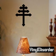 Cross Wall Decal - Vinyl Decal - Car Decal - DC022