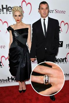 Gwen Stefani and Gavin Rossdale  Gavin Rossdale designed this unique diamond-studded gold ring before proposing to Gwen Stefani in 2002.