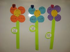 The First Grade Sweet Life: Quick Spring Projects! Math Addition, Addition And Subtraction, Addition Facts, Math Classroom, Future Classroom, Classroom Ideas, 1st Grade Math, First Grade, Grade 2