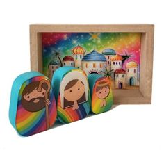 Christmas Gift For You, Baby Jesus, Nativity, Things To Come, Scene, Rainbow, Etsy, Box, Creative