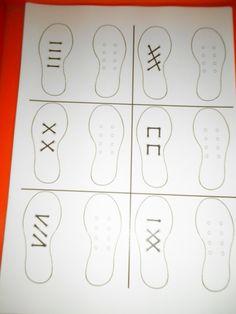 Raamfiguren met schoenen voor de rechtshandigen: veter de andere schoen hetzelfde *liestr*