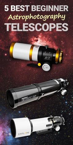 Here are my top 5 choices for best beginner astrophotography telescope. They are all APO refractors, which will make your life a LOT easier early on. Stargazing Telescope, Diy Telescope, Space Telescope, Astronomy Photography, Milky Way Photography, Photography Settings, Space Photography, Astronomical Telescope, Space And Astronomy