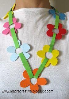 Dia das mães - Um colar de flores com molde! - ESPAÇO EDUCAR