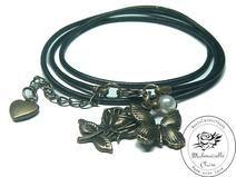 Armband echt Leder - vintage Frühling Claire, Etsy, Bracelets, Vintage, Jewelry, Handmade, Wristlets, Schmuck, Leather