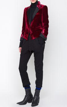Cropped Velvet Jacket by HAIDER ACKERMANN for Preorder on Moda Operandi