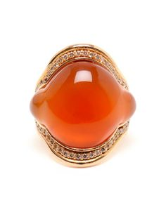 FERNANDO JORGE   Orange Chalcedony and 18k Rose Gold Ring
