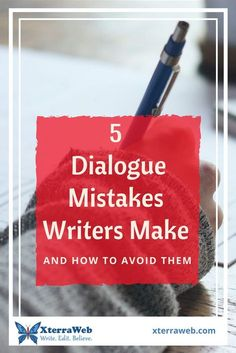 Dialogue mistakes writers make