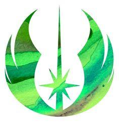 Star Wars Jedi Symbol in Green Art Print