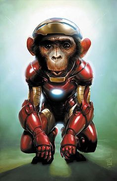 Iron Chimp | Illustration Art | The Design Inspiration