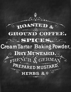 Printable Chalkboard Sign Coffee. Great for some instant Kitchen Art!