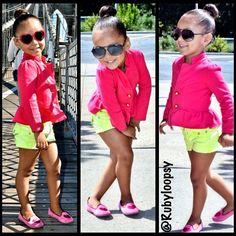 Super Cute outfits for little girls Little Girl Outfits, Cute Outfits For Kids, Little Girl Fashion, Cute Kids, Toddler Girl Style, Toddler Fashion, Kids Fashion, Short Niña, Little Fashionista