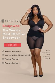 Experience lasting comfort with shapewear guaranteed not to roll down. Innovative shapewear that delivers superior shaping in a powerful design you can show off. Sculpts Thighs…More Curvy Fashion, Plus Size Fashion, Womens Fashion, Hipster Fashion, Grunge Fashion, Style Fashion, Fashion Design, Style Outfits, Cute Outfits