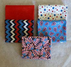 "Cotton Fabric, Home Decor,Quilt, Patriotic, Fat Quarter Bundle of 5~ #1 18"" x 22"",Fast Shipping FQ167"